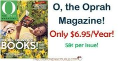 Great deal! Grab O, The Oprah Magazine for only $6.95/year! You are going to love this mag! Grab a subscription for yourself and a friend! So much cheaper than buying at the newsstand!  Click the link below to get all of the details ► http://www.thecouponingcouple.com/o-the-oprah-magazine/ #Coupons #Couponing #CouponCommunity  Visit us at http://www.thecouponingcouple.com for more great posts!
