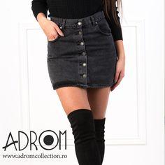 Waist Skirt, High Waisted Skirt, Black Denim Shorts, Casual, Skirts, Women, Fashion, Moda, Skirt