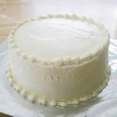 """""""This buttercream is great for icing cakes, and writing on them. It gets hard when refrigerated, so you have to let it come to room temperature before serving. You cannot make flowers with this recipe. I use this recipe every time I make birthday cakes for my family."""""""