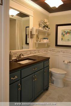 hallway bathroom remodel before after - Bathroom Vanity Backsplash Ideas