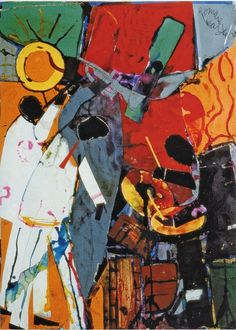 """Romare Bearden, """"Drum Chords"""" (1986)"""