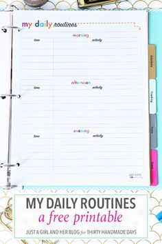 Love this printable for establishing daily routines. It's easy to create a morning, afternoon, & evening schedule so the whole family is on the same page!