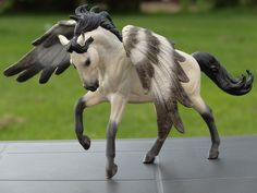 2016. Customized CollectA  model horse to pegasus. Custom by Zane Lahdenranta ( Frosty Birch Studio)
