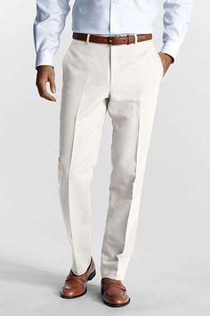 570c9fdf80 Men s Plain Front Tailored Fit Linen Cotton Trousers Courtesy  Lands  End.  Jonathan Melendez · Men s Business Casual Styles