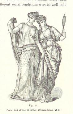 Griechinnen in Tunika und Kleid #Antike