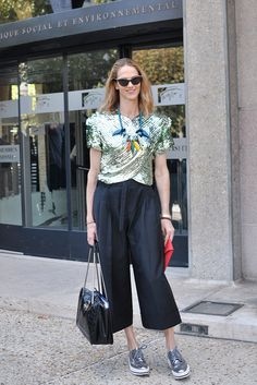 sparkling with culottes. #JJMartin in Paris.