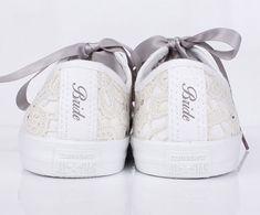 wedding converse for bride - Google Search