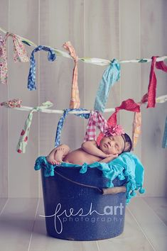 love the colorful scrap fabric garland.
