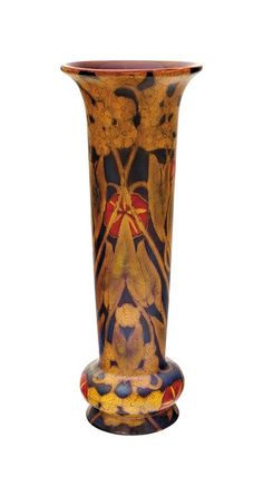 Vase with circular flower design, Zsolnay, c. Fine Porcelain, Porcelain Ceramics, Flower Vases, Flower Art, Art Flowers, Roseville Pottery, Tile Art, Clay Art, Pottery Art