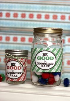 "My Sister's Suitcase: ""Be Good"" Christmas Reward Jar Printable"