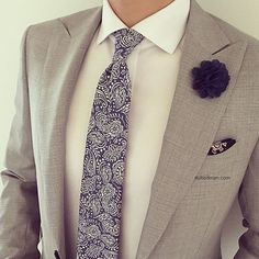 Love the accessories and stylings from @Suited_Man including their wide selection of floral ties, lapel pins, and tie clips | Get them now at www.suitedman.com | Follow @suited_man #suitup @suitedmanstyle