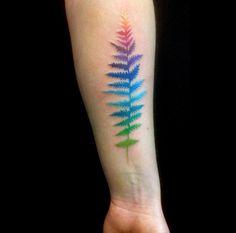 Colorful fern by Amanda Chanfreau