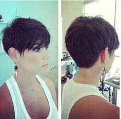 Short Dark Pixie Hairstyles-23