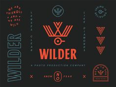 "visualgraphc: ""Brand elements for "" Typography Logo, Graphic Design Typography, Logo Branding, Lettering, Op Logo, Wilder Logo, Logo Inspiration, Ranch, Seal Design"