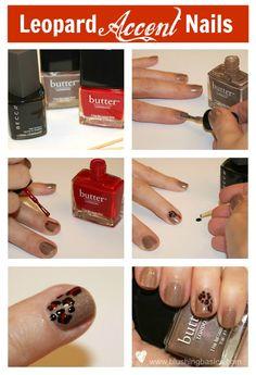 Nail Art Tutorial: Leopard Accent Nails - A Girl's Gotta Spa!