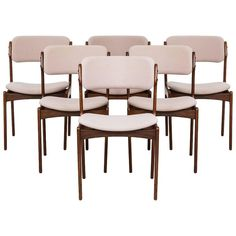 Erik Buck Dining Chairs Model OD-49 by Oddense Maskinsnedkeri in Denmark | From a unique collection of antique and modern dining room chairs at https://www.1stdibs.com/furniture/seating/dining-room-chairs/