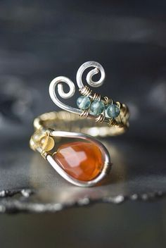 Wire wrapped ring.