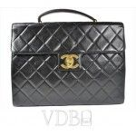 Chanel Quilted Black Leather Jumbo