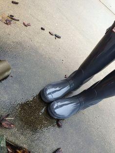 Hunter boots in graphite