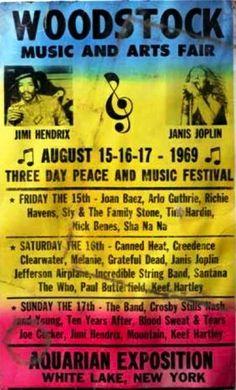 Woodstock ........................................................  In San Francisco, the summer of love happened two years earlier.