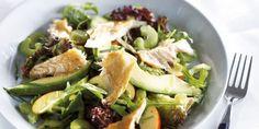 Boodschappen - Frisse salade met gerookte makreelfilet