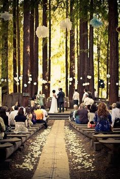 once upon a time there was a beautiful fairy tale wedding in the forest just like out of a fairy tale<3