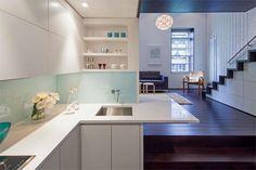 tiny manhattan loft kitchen