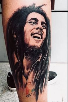 What does bob marley tattoo mean? We have bob marley tattoo ideas, designs, symbolism and we explain the meaning behind the tattoo. Dope Tattoos, Music Tattoos, Trendy Tattoos, Unique Tattoos, Body Art Tattoos, Sleeve Tattoos, Portrait Tattoos, Tatoos, Crow Tattoos