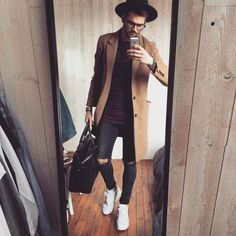 "mensfashionn: "" Follow my page in Instagram - https://www.instagram.com/martinmarinoff/ "" Men's Fall Fashion, Men Fashion, Urban Fashion, Fashion Mode, Trendy Mens Fashion, Stylish Men, Style Fashion, Camel Coat Men, Trench Coat Men"
