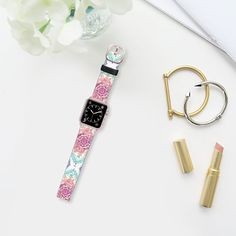 Indian Ink - Rainbow Version - Saffiano Leather Watch Band