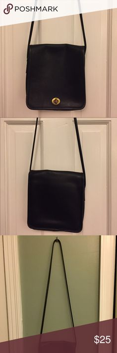 Coach Purse Vintage black coach bag! Worn, but lends so much character! Still good condition. Can fit cellphone, wallet, and e-reader comfortably. Coach Bags Crossbody Bags