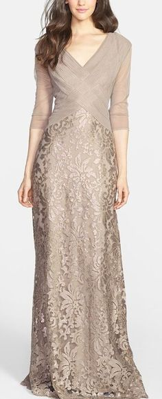 Champagne Mother of the Bride dress: