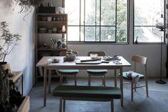 saucer dining chair(ソーサーダイニングチェア ベージュxブラウン)[sieve]:ナチュラル,ベージュ・アイボリー系,Home's Style(ホームズスタイル)のダイニングチェアの画像