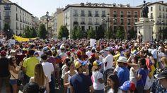 Una manifestación recorre la capital de España como réplica de la marcha en…