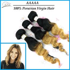 Find More Hair Weaves Information about peruvian virgin hair extensions Loose Wave 5A Virgin human Hair weave two tone color 3pcs lot better quality luvin hair product,High Quality Hair Weaves from Free&Fun  Hair Co.,Ltd on Aliexpress.com