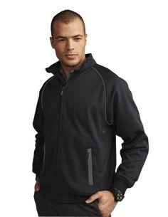 Men's Pique Fleece Knit Jacket (100% Polyester) Tri mountain 7395  #OOTD #fashion #newlook