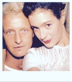 Rutger Hauer and Sean Young during the filming of Blade Runner.