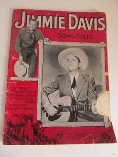 I Told You So Sheet Music Jimmy Davis Sheet Music    Cowboy and Hillbilly Ballards  with Illustrated Pictures Great Patina color on sheet music