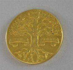 George V Royal Horticultural Society gold medal 1912 15.6 grams  Estimate £ 300-500 Selling 24th Jun 2013