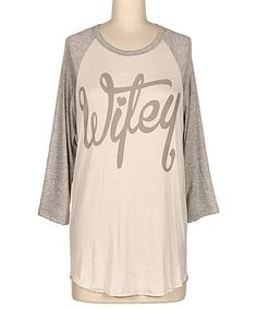 dca9e94e01c3f Look at this Heather Gray  Wifey  Raglan Tunic on  zulily today! Heather