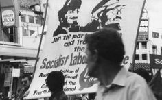 Old film - where I have come from. Socialists marching in 80's