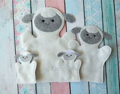 Sheep Hand Puppets by CrabbyNurseCreations on Etsy