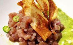 Tartar de Atun sobre alioli de Aguacate del chef Jorge @Udelman del Restaurante @JuBistrotBar