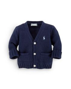 Ralph Lauren Childrenswear Infant Boys' Combed Cotton Sweater - Sizes 3-12 Months   Bloomingdale's