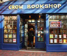 America's Best Bookstores: Crow Bookshop This cute store is located in Burlington, VT.   crowbooks.com