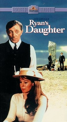 Ryan's Daughter (1970) good movie. Set in 1916 amid political unrest on Ireland's Dingle Peninsula, this epic tale stars Sarah Miles as Rosy Ryan, a naïve young girl trapped in a loveless marriage to schoolmaster Charles Shaughnessy (Robert Mitchum). When a handsome British officer arrives in town, his tryst with Rosy sets tongues wagging and leads the locals to suspect Rosy of being an informant after a rebel operation is sabotaged.  Robert Mitchum, Trevor Howard, John Mills...romance