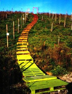 #Outdoor, #RecycledPallet, #Stairs