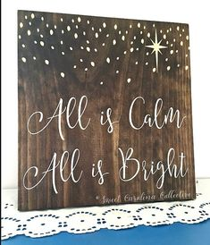 All is Calm All is Bright Holiday Sign HD-27 by Sweet Carolina Collective  This listing is for one All is Calm All is Bright holiday sign. You