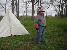 Me dressed in Civil War period Confederate Uniform.