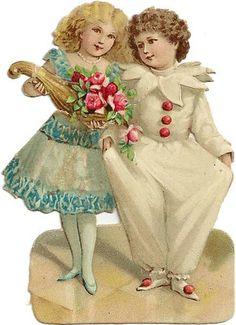 Vintage Victorian Valentine's Day | Antique Valentine Clipart - Valentine Scraps for Craft Projects ...
